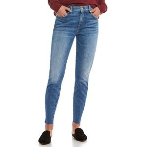 7 For All Mankind High Waisted Ankle Skinny 25